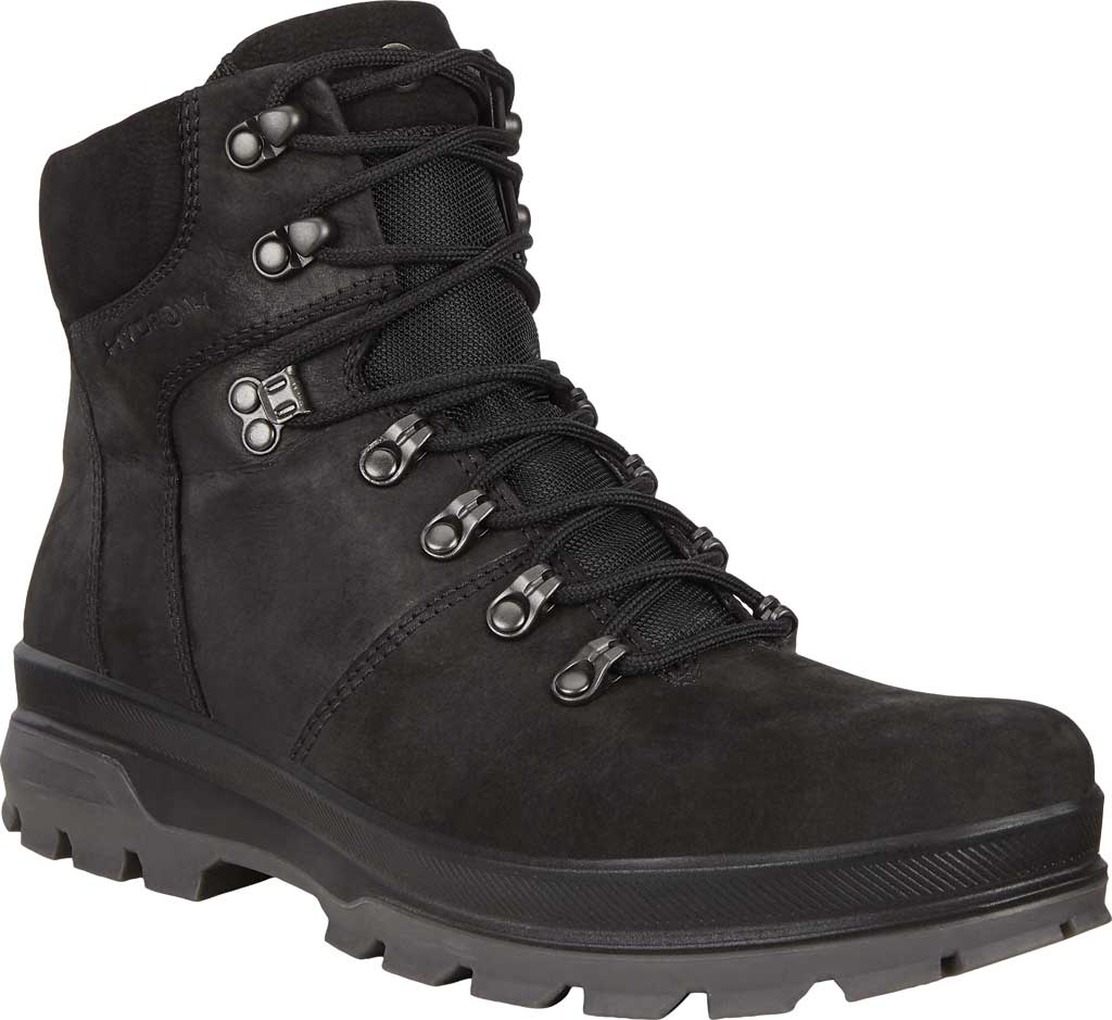 Men's ECCO Rugged Track High Hydromax Water Resistant Boot, Black/Black Nubuck, large, image 1