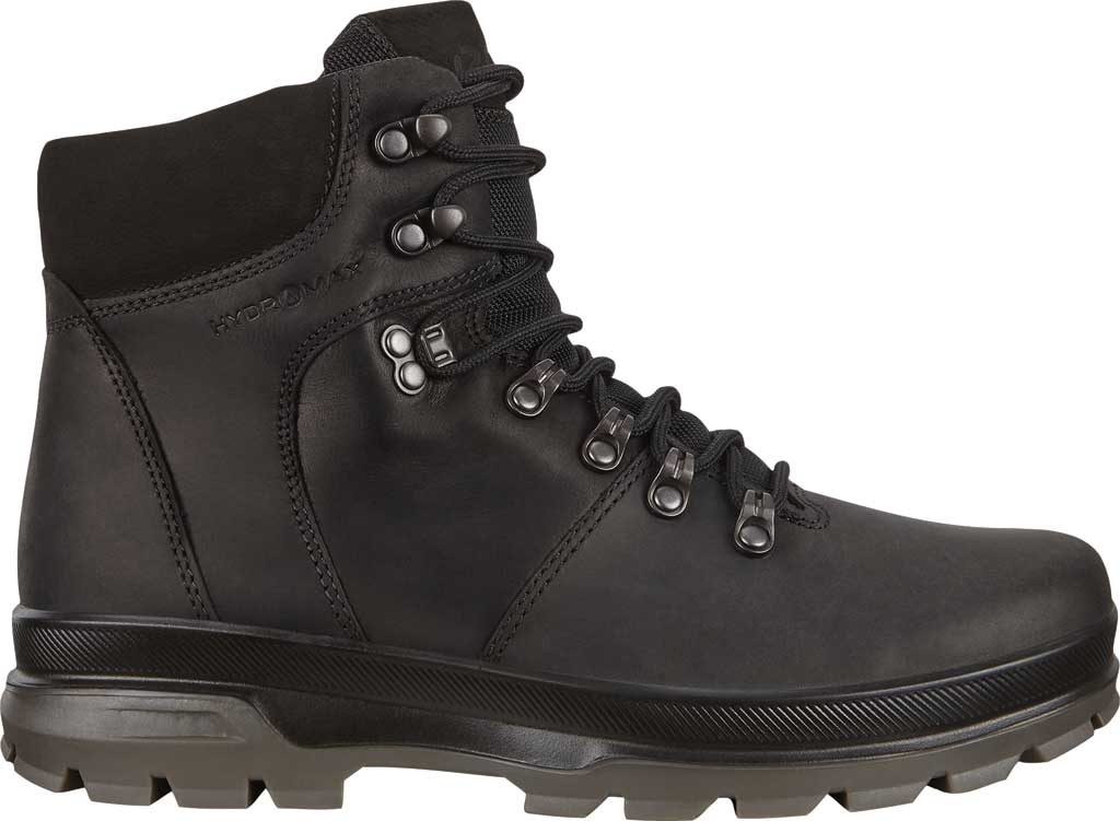 Men's ECCO Rugged Track High Hydromax Water Resistant Boot, Black/Black Nubuck, large, image 2