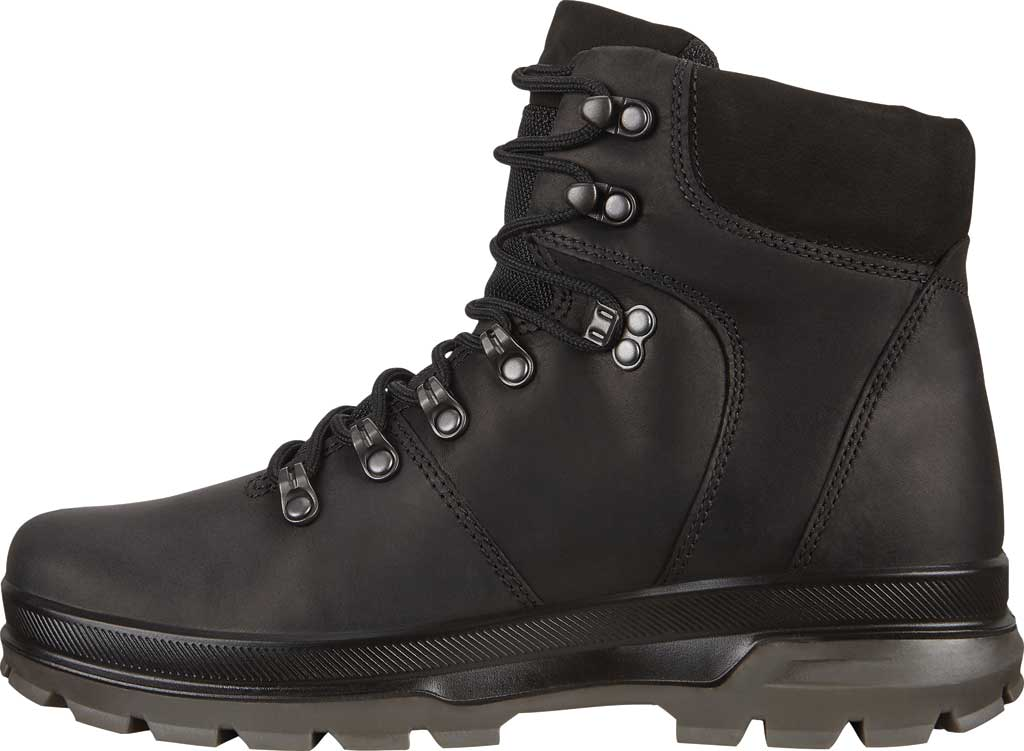 Men's ECCO Rugged Track High Hydromax Water Resistant Boot, Black/Black Nubuck, large, image 3