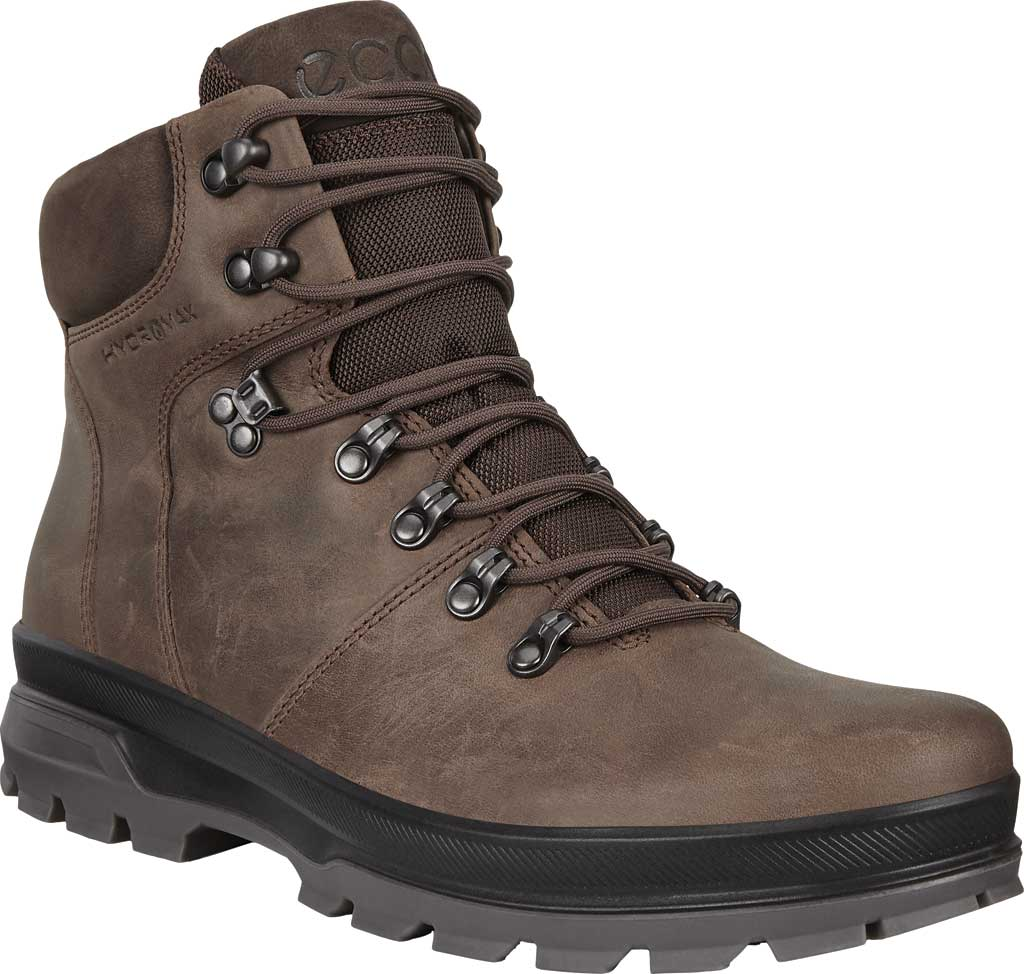 Men's ECCO Rugged Track High Hydromax Water Resistant Boot, Coffee/Coffee Nubuck, large, image 1