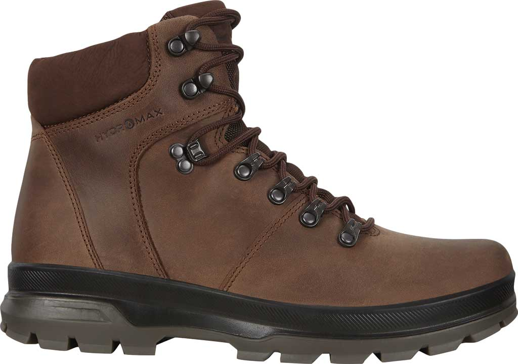 Men's ECCO Rugged Track High Hydromax Water Resistant Boot, Coffee/Coffee Nubuck, large, image 2