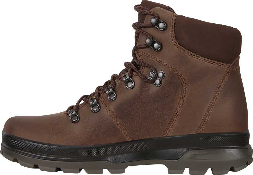 Men's ECCO Rugged Track High Hydromax Water Resistant Boot, Coffee/Coffee Nubuck, large, image 3