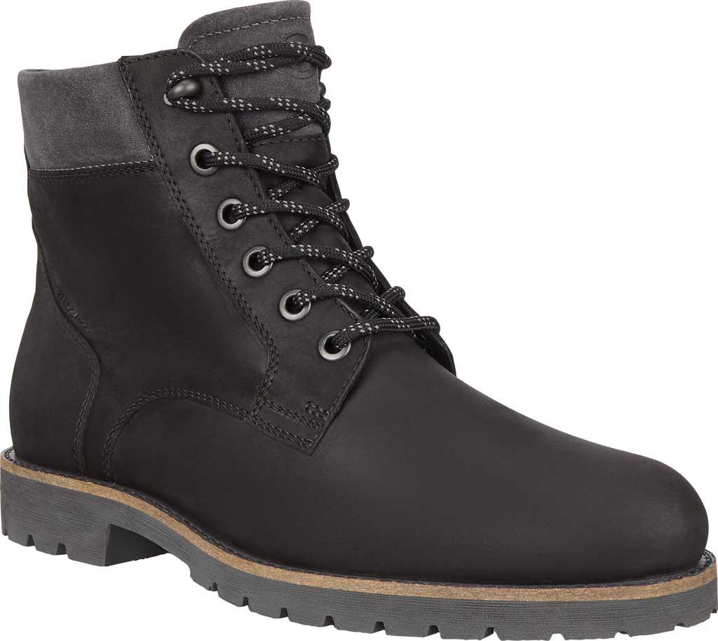 Men's ECCO Jamestown Hydromax High Boot, Black/Magnet Nubuck/Suede, large, image 1