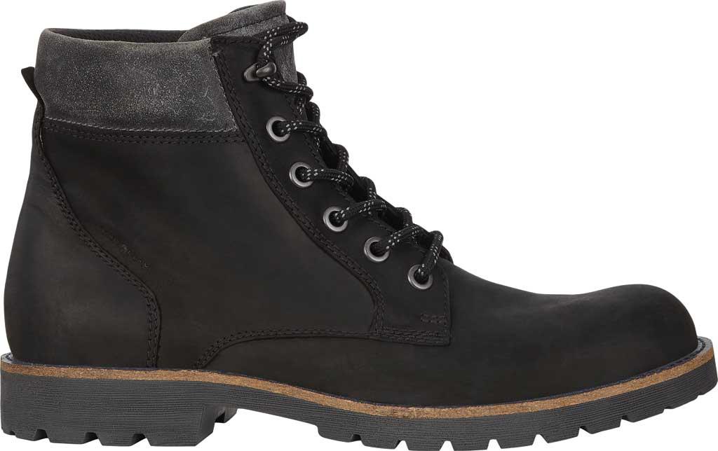 Men's ECCO Jamestown Hydromax High Boot, Black/Magnet Nubuck/Suede, large, image 2