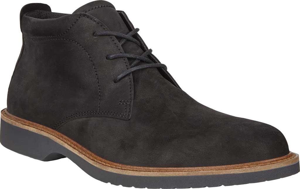 Men's ECCO Ian Plain Toe Chukka Boot, Black Nubuck, large, image 1