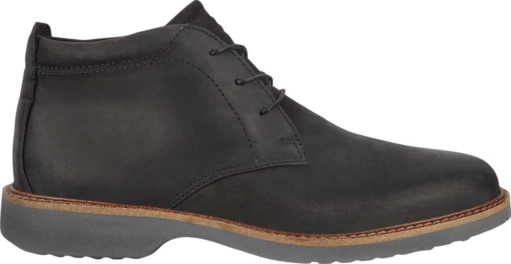 Men's ECCO Ian Plain Toe Chukka Boot, Black Nubuck, large, image 2