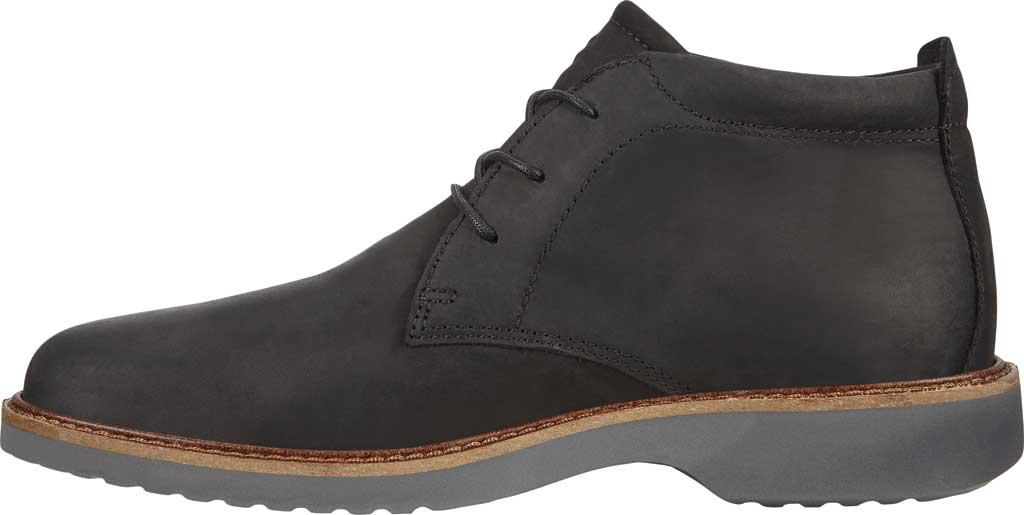Men's ECCO Ian Plain Toe Chukka Boot, Black Nubuck, large, image 3
