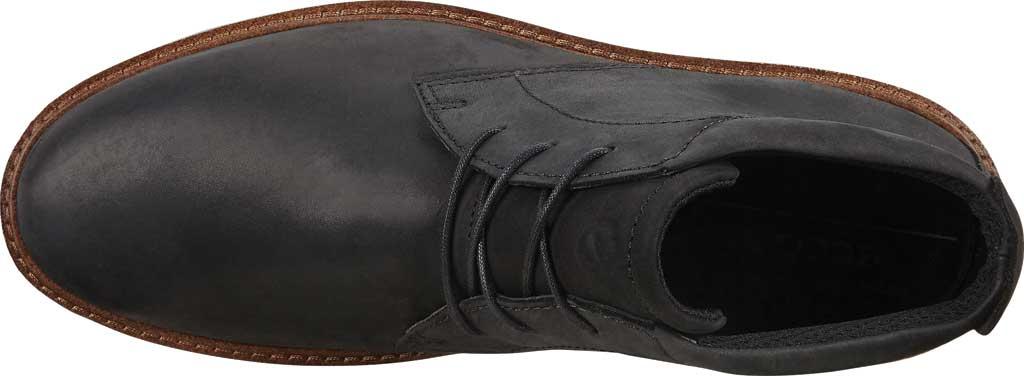 Men's ECCO Ian Plain Toe Chukka Boot, Black Nubuck, large, image 5