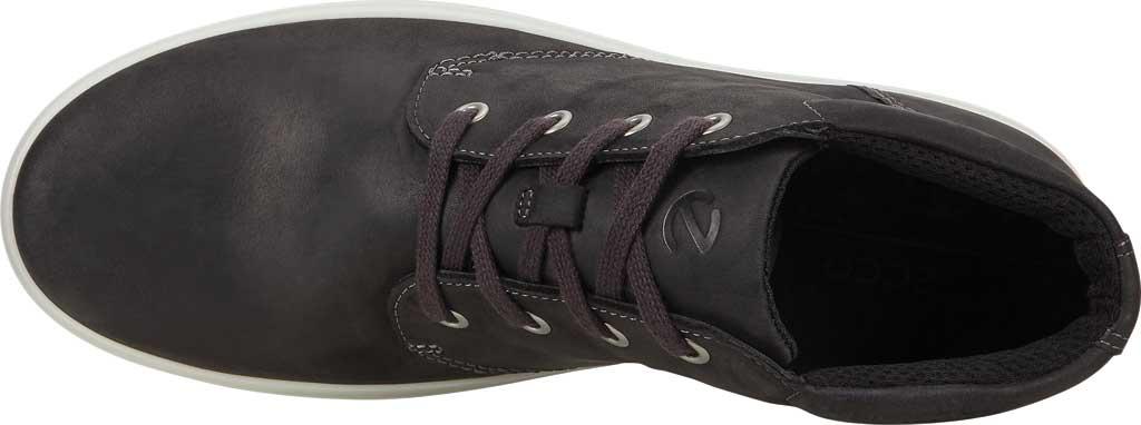 Men's ECCO Soft Classic Chukka Boot, Black Nubuck, large, image 4