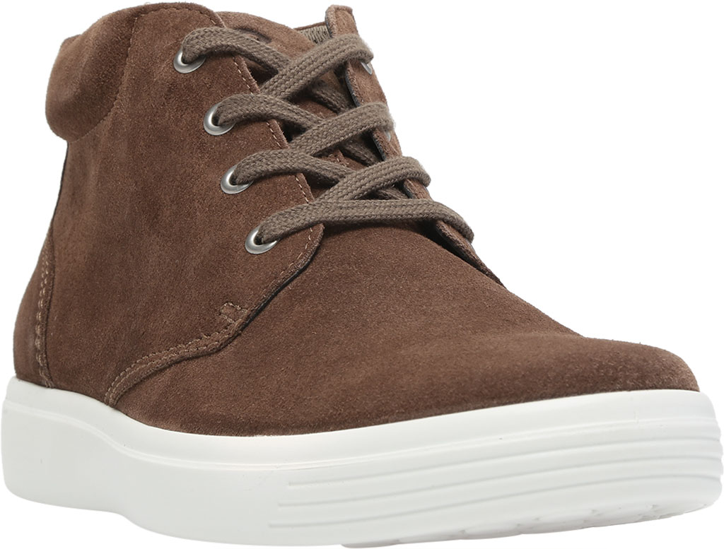 Men's ECCO Soft Classic Chukka Boot, Dark Clay Suede, large, image 1