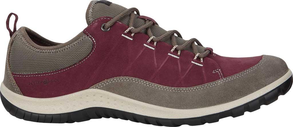 Women's ECCO Aspina Low Hydromax Water Resistant Sneaker, Warm Grey/Wine Suede/Nubuck, large, image 2