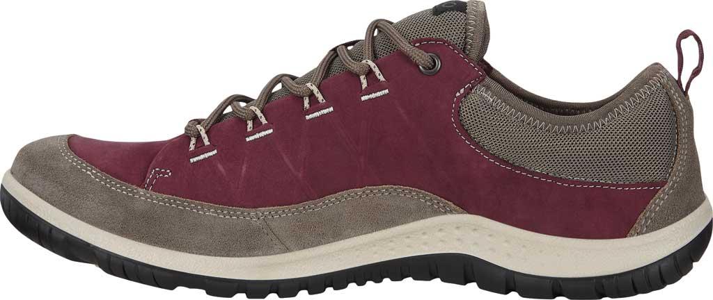 Women's ECCO Aspina Low Hydromax Water Resistant Sneaker, Warm Grey/Wine Suede/Nubuck, large, image 3