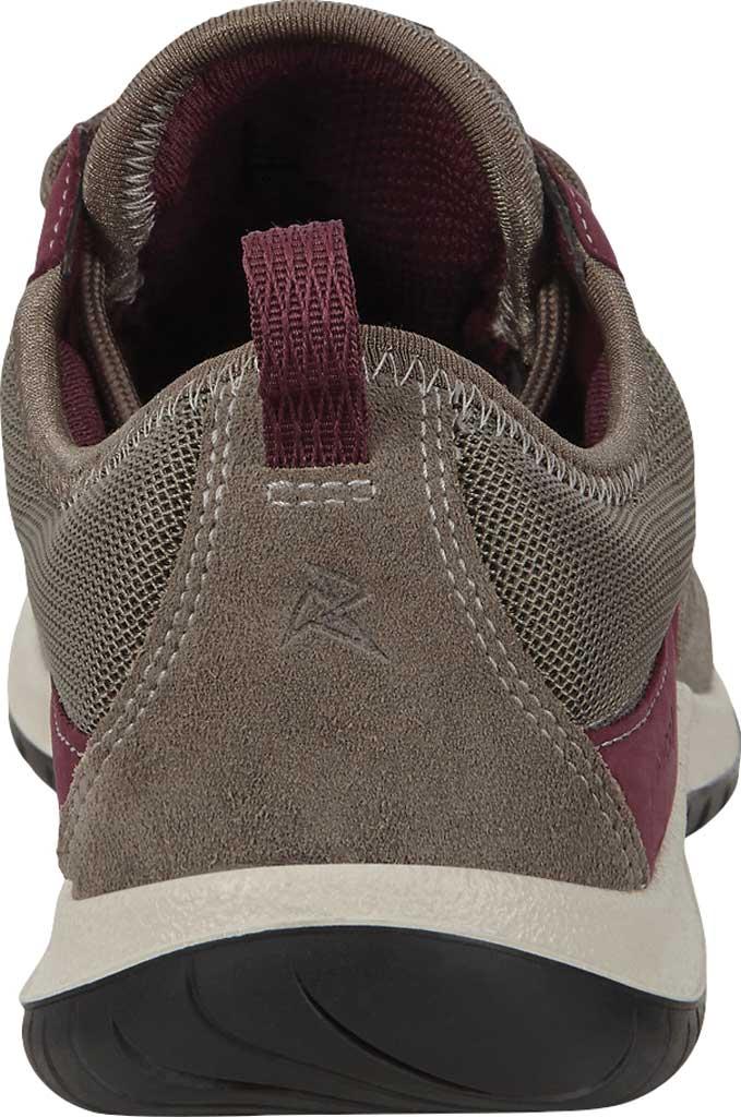 Women's ECCO Aspina Low Hydromax Water Resistant Sneaker, Warm Grey/Wine Suede/Nubuck, large, image 4
