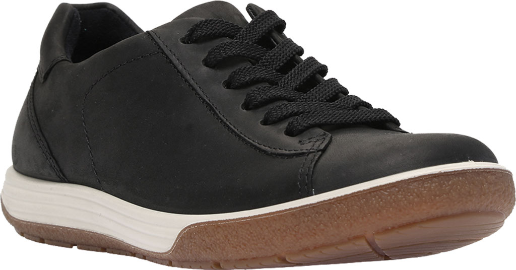 Women's ECCO Chase II Tie Hydromax Water Resistant Sneaker, Black Nubuck, large, image 1