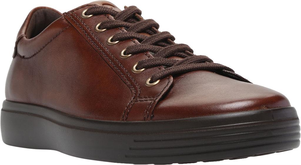 Men's ECCO Soft Classic Tie Sneaker, Cognac Brushed Nubuck, large, image 1