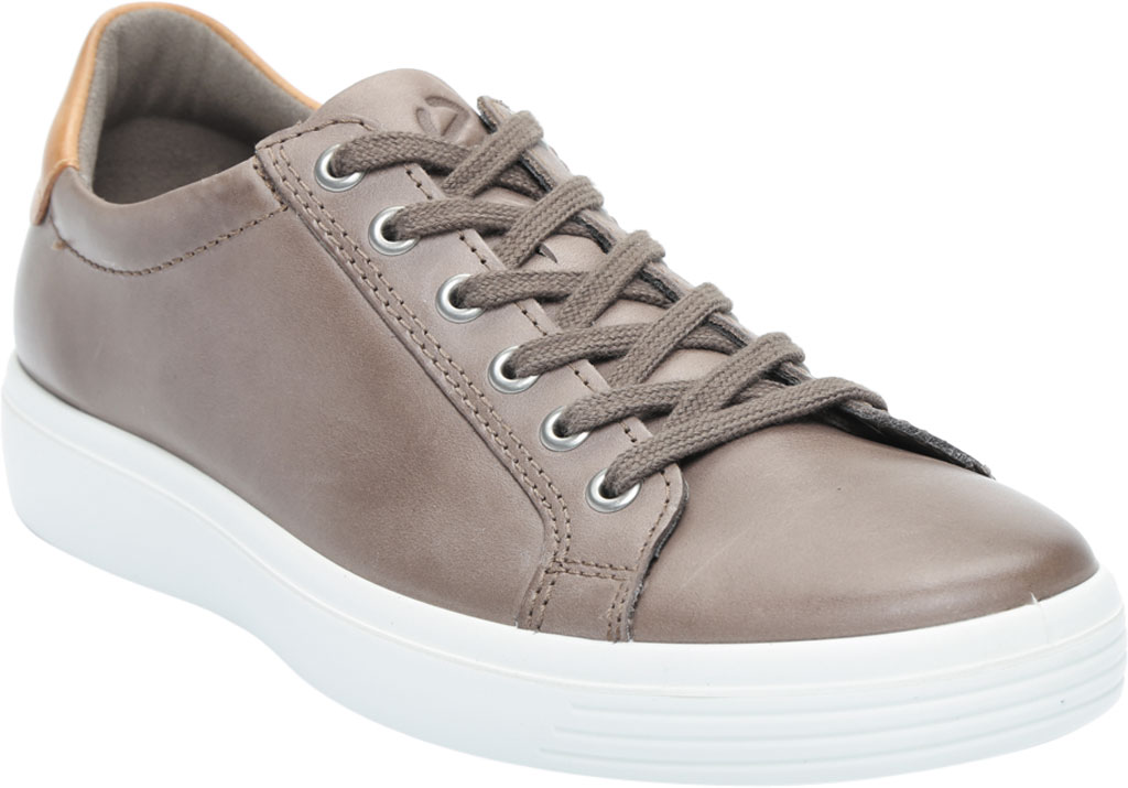 Men's ECCO Soft Classic Tie Sneaker, Dark Clay/Lion Brushed Nubuck, large, image 1