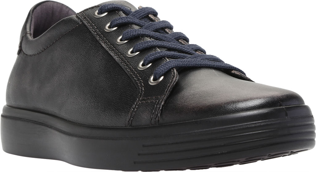 Men's ECCO Soft Classic Tie Sneaker, Magnet Crust Leather, large, image 1