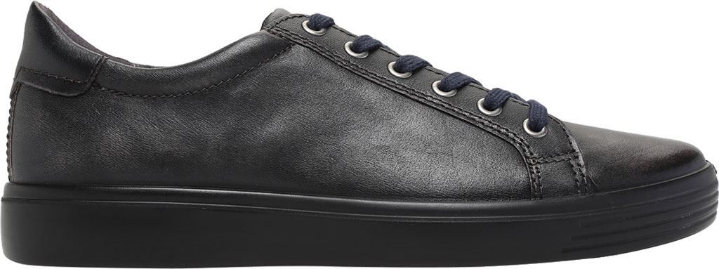 Men's ECCO Soft Classic Tie Sneaker, Magnet Crust Leather, large, image 2
