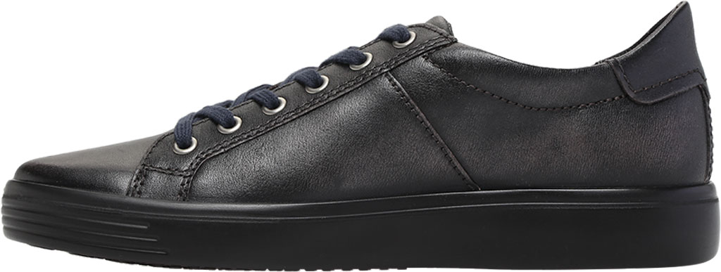 Men's ECCO Soft Classic Tie Sneaker, Magnet Crust Leather, large, image 3