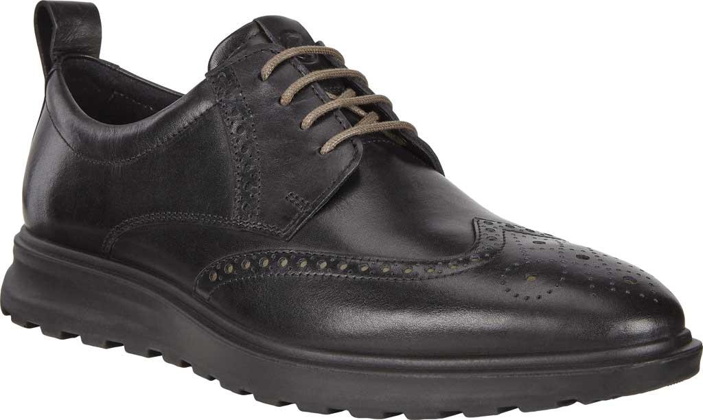 Men's ECCO CS20 Hybrid Wing Tip Oxford, Black Full Grain Leather, large, image 1