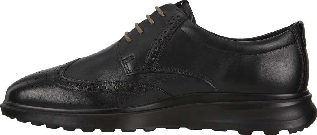 Men's ECCO CS20 Hybrid Wing Tip Oxford, Black Full Grain Leather, large, image 3