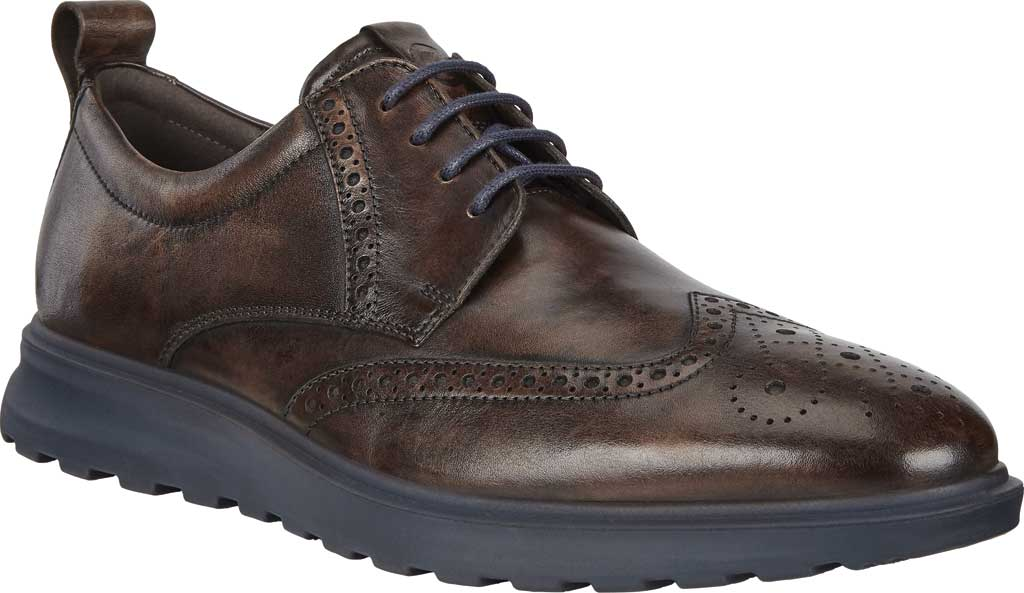 Men's ECCO CS20 Hybrid Wing Tip Oxford, Cocoa Brown Full Grain Leather, large, image 1