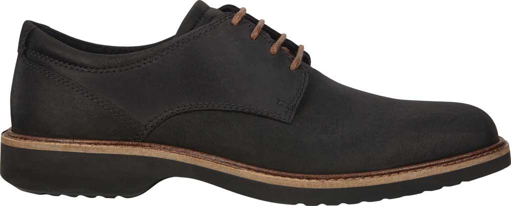 Men's ECCO Ian Plain Toe Oxford, Black Nubuck, large, image 2