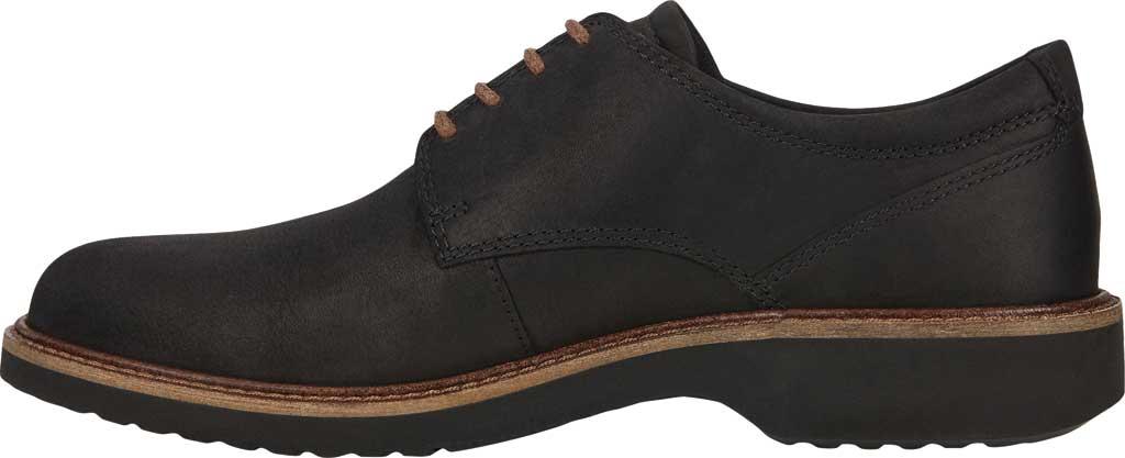 Men's ECCO Ian Plain Toe Oxford, Black Nubuck, large, image 3