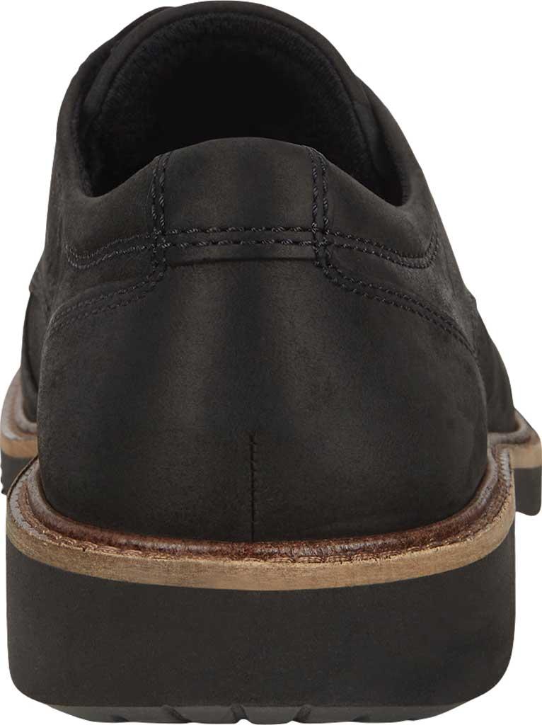 Men's ECCO Ian Plain Toe Oxford, Black Nubuck, large, image 4