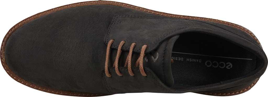 Men's ECCO Ian Plain Toe Oxford, Black Nubuck, large, image 5