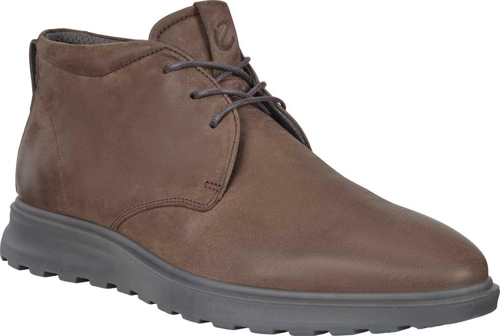 Men's ECCO CS20 Hybrid Plain Toe Chukka Boot, Coffee/Moonless Nubuck, large, image 1