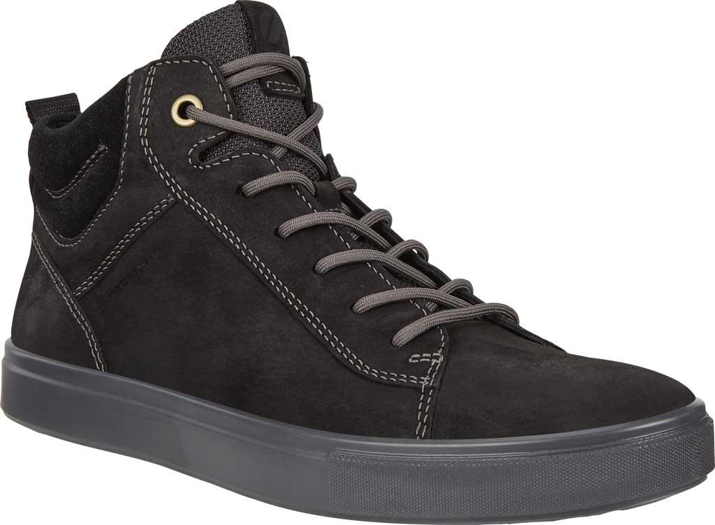 Men's ECCO Kyle Hi-Top Water Resistant Sneaker, Black/Black Nubuck/Suede, large, image 1