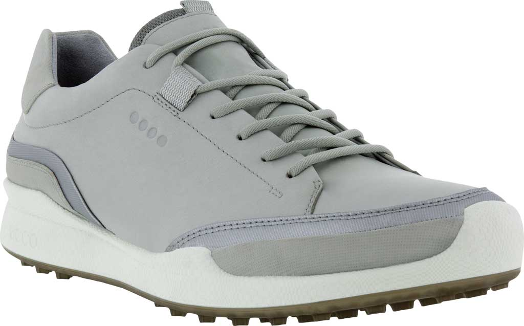 Men's ECCO Golf Biom Hybrid Laced Shoe, Concrete/Silver Metallic Yak Leather/Synthetic, large, image 1
