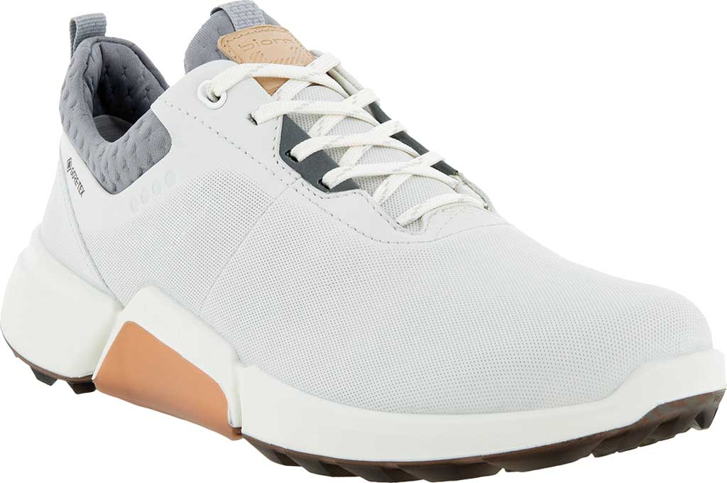 Women's ECCO Golf Biom H4 Laced Shoe, White/Silver Grey Dritton Leather, large, image 1