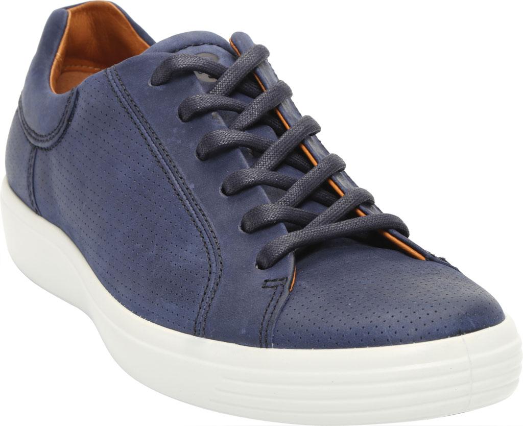 Men's ECCO Soft 7 Street Perforated Sneaker, Night Sky Nubuck, large, image 1
