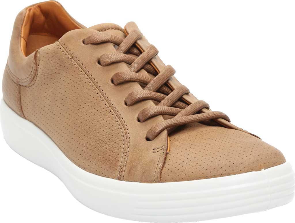 Men's ECCO Soft 7 Street Perforated Sneaker, Camel Nubuck, large, image 1
