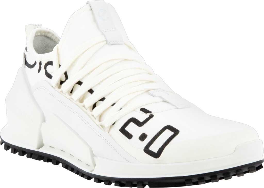 Women's ECCO Biom 2.0 Low Textile Sneaker, Bright White/White Textile/Leather, large, image 1
