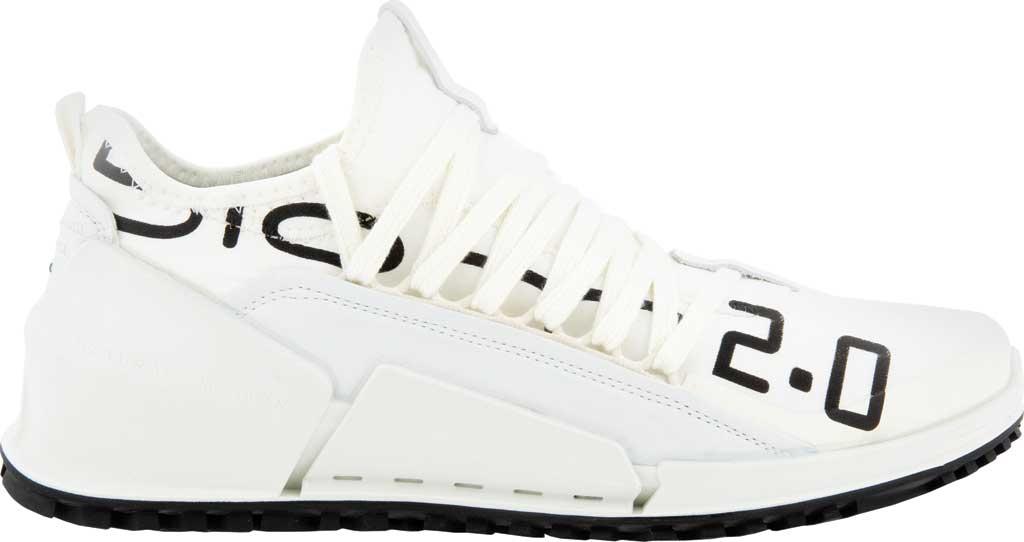 Women's ECCO Biom 2.0 Low Textile Sneaker, Bright White/White Textile/Leather, large, image 2