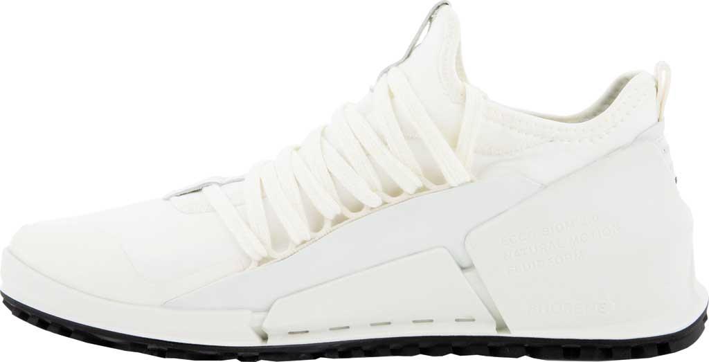 Women's ECCO Biom 2.0 Low Textile Sneaker, Bright White/White Textile/Leather, large, image 3