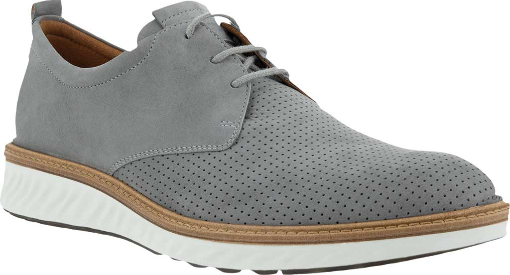 Men's ECCO ST.1 Hybrid Summer Perforated Oxford, Wild Dove Nubuck, large, image 1