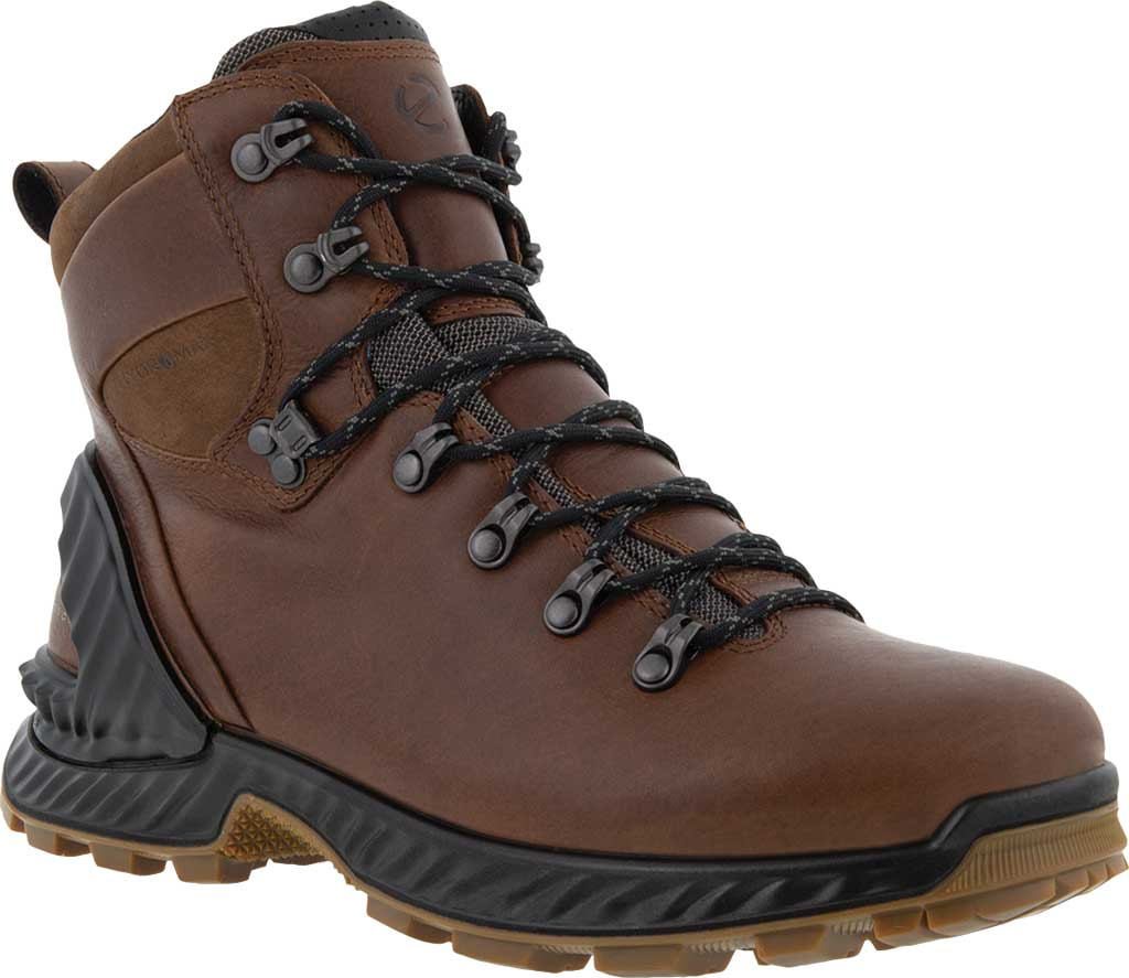 Men's ECCO Exohike Mid Hydromax Hiking Boot, Cocoa Brown Yak Leather, large, image 1