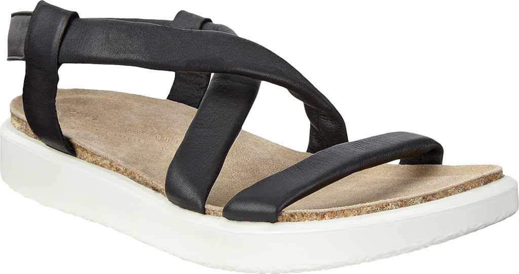 Women's ECCO Corksphere Strappy Slingback Sandal, Black Full Grain Leather, large, image 1