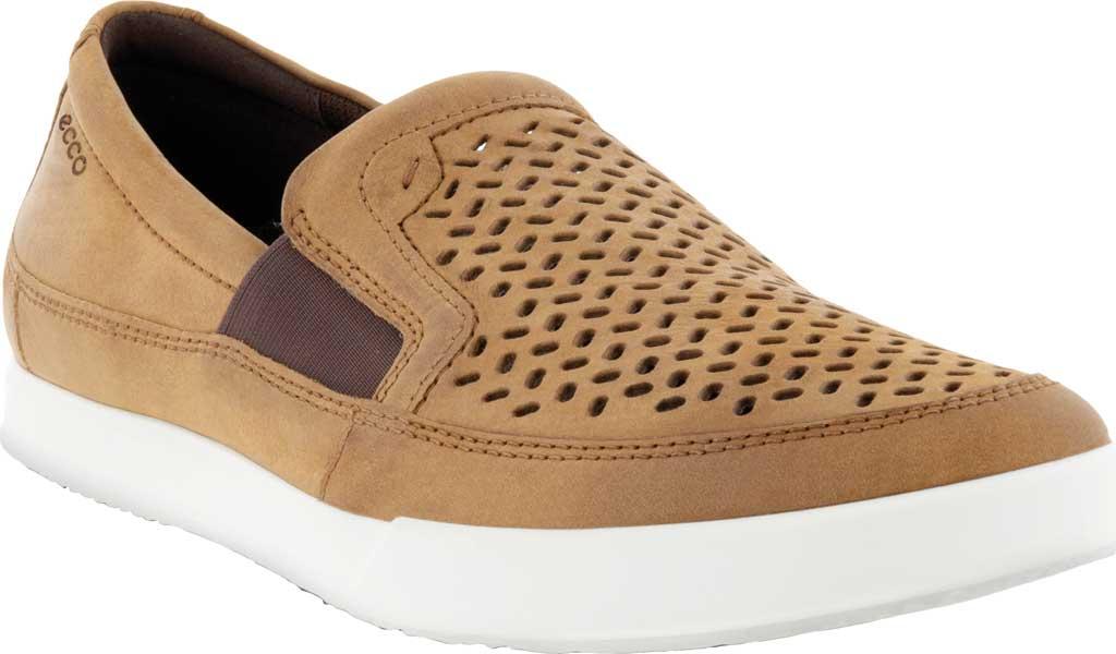 Men's ECCO Cathum Perforated Slip On Sneaker, Camel Nubuck, large, image 1
