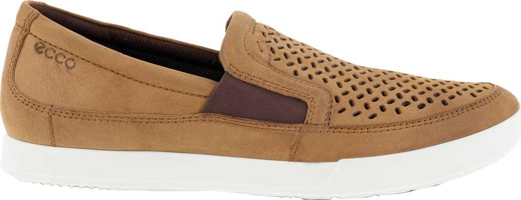 Men's ECCO Cathum Perforated Slip On Sneaker, Camel Nubuck, large, image 2