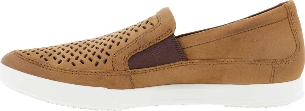 Men's ECCO Cathum Perforated Slip On Sneaker, Camel Nubuck, large, image 3