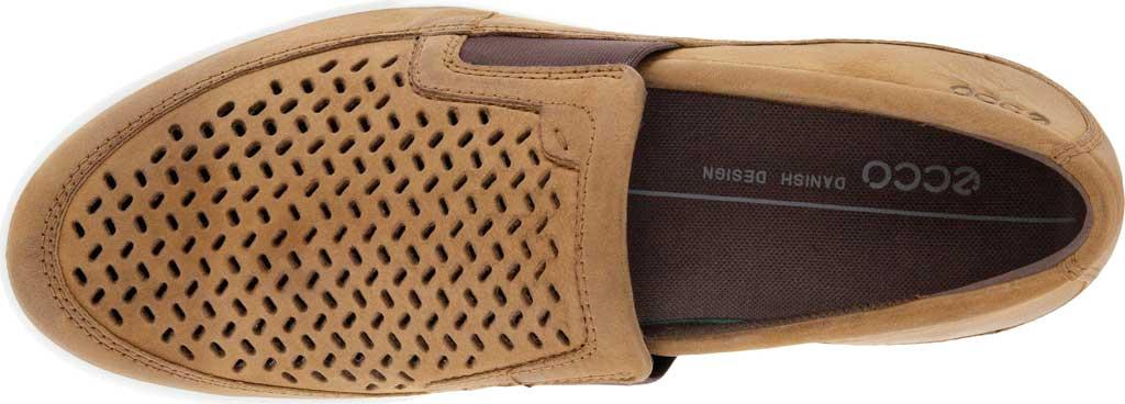 Men's ECCO Cathum Perforated Slip On Sneaker, Camel Nubuck, large, image 4