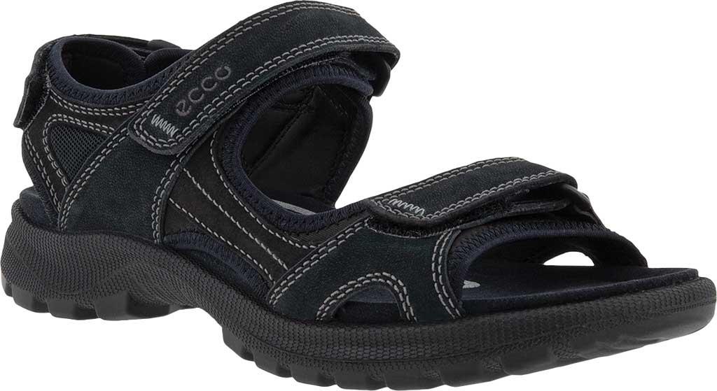 Women's ECCO Onroads Sport Sandal, Black Nubuck/Stretch Fabric, large, image 1