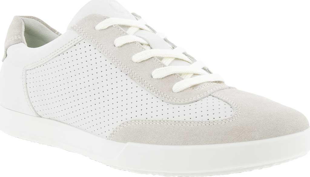 Men's ECCO Cathum Retro Sneaker, White Nappa/Suede, large, image 1