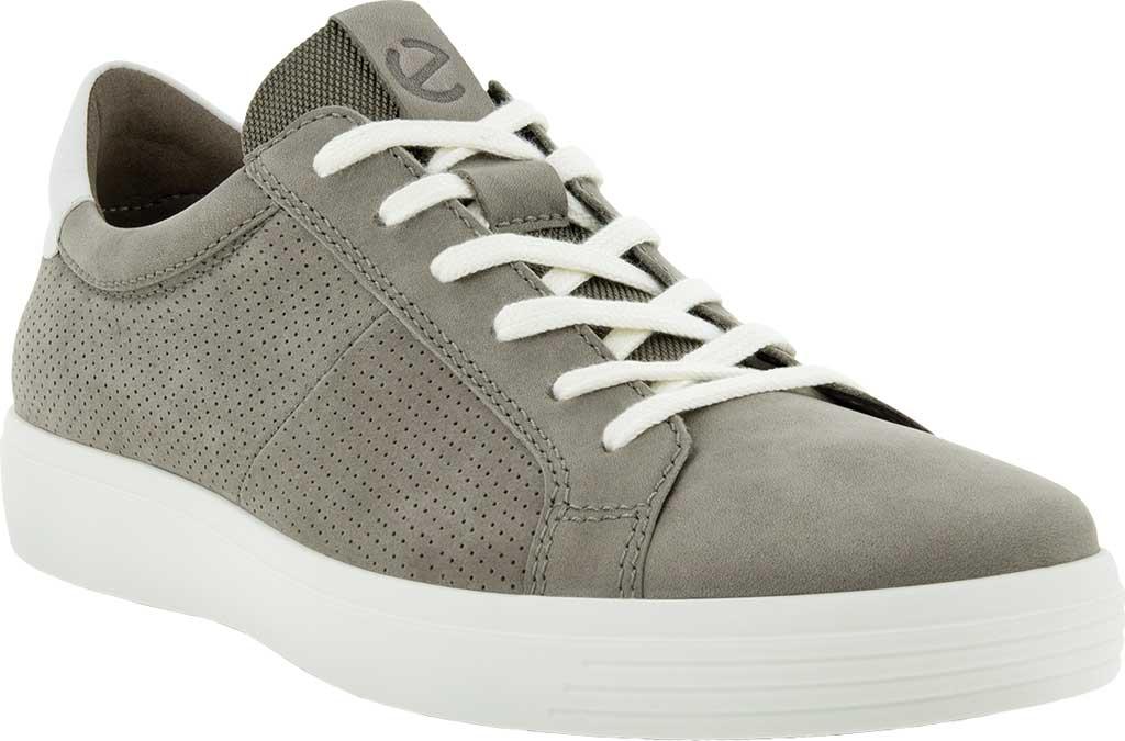 Men's ECCO Classic Summer Sneaker, Warm Grey/White Nubuck/Nappa, large, image 1