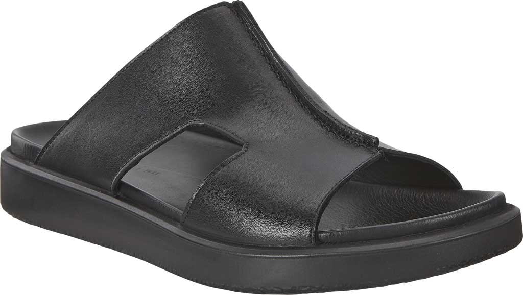 Men's ECCO Flowt Luxe Slide, Black Full Grain Leather, large, image 1